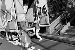 Daikanyama, Tokyo (fabiolug) Tags: van mover man furniture light shadow steps worker cone daikanyama people street streetphotography tokyo japan japanese asia leicammonochrom mmonochrom monochrom leicamonochrom leica leicam rangefinder blackandwhite blackwhite bw monochrome biancoenero 35mmsummicronasph 35mmf2summicronasph summicronm35mmf2asph summicron35mmf2asph 35mm summicron leicasummicron leica35mm