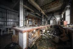 . (satanclause) Tags: abandoned industry germany lab factory fabrik laboratory corp chemie hdr umbrela urbex tovrna ehemalige verlassene laborato oputn