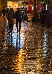 Night street in London (Warm Eye) Tags: streetphotography night london raining rainingstreet londonnight
