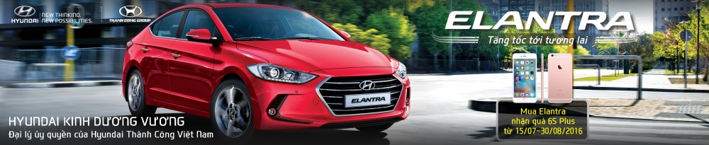MUA ELANTRA 2016 TẶNG IPHONE 6S PLUS