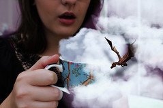Morning Adventure (misa.stahlova) Tags: 365 365project day44 adventure clouds fluffy dragon morning coffee conceptual fineart surreal fun story naturallight selfportrait portrait people cup canon indoor flying girl myself imagination imaginative