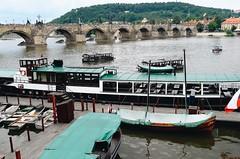 (Elsi Godolja) Tags: boats water river danube prague czech czechrepublic charlesbridge bridge mountain europe vacation wow