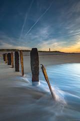 Buhnenreste am Ellenbogen (spityHH) Tags: a7ii sony list ellenbogen sylt leefilters buhne leuchtturm lighthouse meer sea nordsee seascape