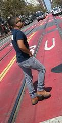 (sftrajan) Tags: sanfrancisco 2016 cameraphone samsunggalaxycoreprime men man hombre handsome stud hunk marketstreet