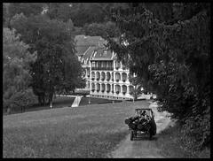 THE HIDDEN SANATORIUM (LitterART) Tags: lkh heilanstalt enzenbach traktor land tractor farming nikon nikonp7000 lungenheilanstalt sanatorium hospital tbc tuberkolose rein hrgas klinik
