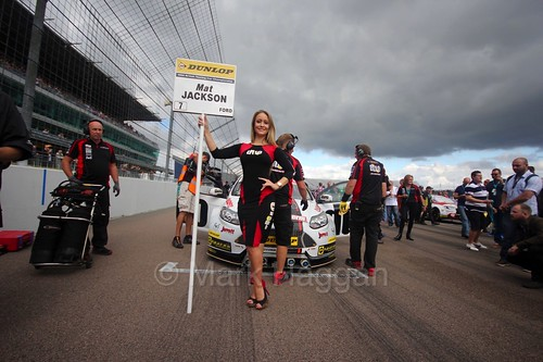 Mat Jackson on the grid at Rockingham, August 2016
