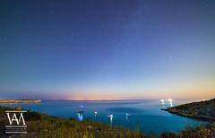 Mgiebah Bay at Night (McCarthy's PhotoWorks) Tags: malta med mediterranean mgiebah sicily astronomy bay beautiful coast coastline horizon landscape longexposure night nightsky nighttime nightscape outdoor seascape shoreline star starry