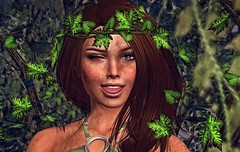 *Sometimes I just like to get dirty*  O:)  () Tags: dirty angel girl female sl secondlife outdoors woods closeup portrait