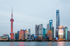 Shanghai (Valentin Stanciu) Tags: shanghai china sunset canon urban architecture river asia swfc
