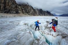 Helping Hand at Biafo (ZaIGHaM-IslaM) Tags: biafo glacier snowlake pakistan mountains traveling helping hand north trekofalltreks