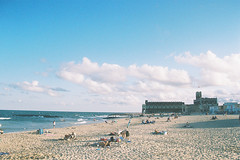 Everyone packing up (andrewkatchen) Tags: asburypark newjersey jerseyshore beach ocean nikon film 35mm portra400 n6006