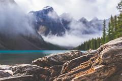 Moraine Lake, Banff NP, Alberta, Canada (Brian Powers Photography) Tags: lake moraine alberta banff national park mountains travel fog