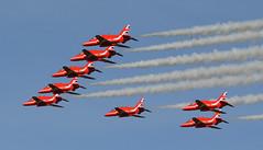 Red Arrows (andrewpeeluk) Tags: jet airplane plane redarrows raf ncl newcastleairport aviation avgeek planespotting