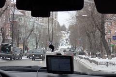 rue :-) (8pl) Tags: perm rue neige voitures hiver arbres btiments