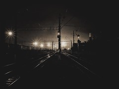 The intersections of the lines in the light of bygone days. The phrase is trampled words. Watch and don't be surprised. Nothing new in this world. All repeats. #nightlight #walkingdead #station #crossroads #repeat #времяжитьвроссии