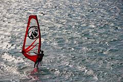Windsurfing at Orkos beach (Debbie -GR) Tags: naxos windsurfing orkosbeach island cyclades greece