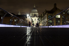 St Paul's (ca2cal) Tags: england greaterlondon london southbank southwark people street river thames riverthames millennium bridge millenniumbridge stpauls st pauls paul cathedral church night longexposure website project366