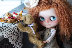 Little Bandits 2: Success (assamcat) Tags: blythe blythecustom pariszhenpink moshimoshi annie max teddy bear