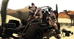 War Cats SPF100++ (prettynontan) Tags: catwa tsg belleza maitreya war cat soldier ro buggy desert military ak47 minimi weapon sand treasure hunt