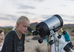 Observing the moon through a telescope; 2015 Night Sky Festival (Joshua Tree National Park) Tags: joshuatree nationalpark california desert nightsky telescope