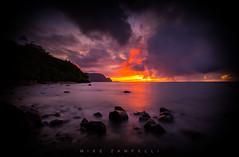 Bali Hai Sunset (Michael Zampelli) Tags: balihai beach coast hawaii hideaways kauai palikekua princeville rainbow rocks sea timeexposure water g