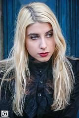 Vale - 1 (marcellomasiero) Tags: blonde blondegirl beauty beautiful lips blueeyes italian venice hat blackdress