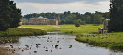 Kedleston Hall and fishing lodge (chris@durham) Tags: kedleston hall derbyshire