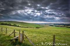 Butts Brow (NHorton) Tags: canon landscape 6d interesting lighting clouds drama walk country sussex fields south downs national park area outstanding natural beauty light rays full frame tripod cokin nd grad filters hard