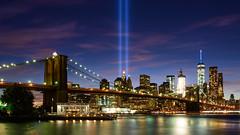 Tribute in Light (scott photos) Tags: newyork newyorkcity 911 tributeinlight tribute light neverforget eastriver brooklynbridge brooklyn usa longexposure nikon nikkor 35mm sigma35mm d800