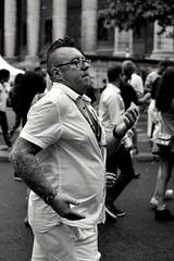 Dancing (__sam) Tags: madeleine lavage blackandwhite people portraites paris tradition brazilian catholic street cloudy man white tatto spectacle hairstyle