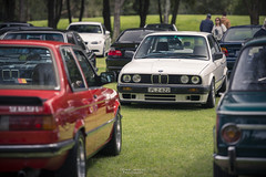 Sports sedans. (God_speed) Tags: german deutsche cars auto automobile outdoor car show germany porsche bmw mercedes benz daimler bimmer e30 e21 2002 3series compact sporty
