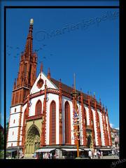 Marienkapelle, Wurzburg (Koko Pics) Tags: wrzburg rivercruise main mainriver franconia bavaria germany 2016cruise marienkapelle maypole