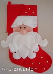 Bota Natalina Noel em Feltro (ARTE ENCANTO - III) Tags: natal noel feltro papai bota natalina botal