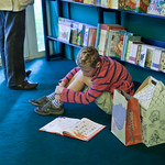 Young reader in the bookshop