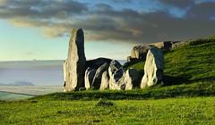The stones at the entrance of West Kennet Long Barrow (Beardy Vulcan) Tags: autumn england fall october day cloudy stones tomb wiltshire prehistoric marlborough kennetvalley avebury neolithic westkennetlongbarrow longbarrow 2011 sarsens expressyourselfaward