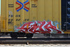SOUR (KNOWLEDGE IS KING_) Tags: railroad color art car yard train bench one graffiti paint panel steel painted stock tracks rail railway socal crew rails boxcar piece bomb sour railfan freight rolling fill in tbox ttx ibd kik yearoftheox benched
