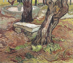 Vincent van Gogh - Bench in the Park of the Asylum at Saint-Remy, 1889 (Museu de Arte de Sao Paulo Assis Chateaubriand) Van Gogh: Up Close at Philadelphia Museum of Art (mbell1975) Tags: park art philadelphia up museum bench painting de french landscape gallery museu close arte fine vincent arts muse musee m impressionism museo van paulo gogh sao asylum impression impressionist muzeum assis 1889 mze chateaubriand gallerie saintremy museumuseum