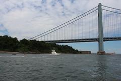 IMG_0680 (dutchmazz) Tags: ocean new york city nyc bridge urban beach water brooklyn swimming swim island harbor open fort hamilton narrows staten wadsworth verrazanonarrows