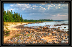 Golden Hour Sunrise (ScottElliottSmithson) Tags: park lake beach water up forest sunrise canon scott eos golden state michigan greatlakes hour 7d upperpeninsula huron hdr rockybeach lakehuron goldenhour greatlake detour cedarville smithson yooper photomatix stateforest michiganstateparks lescheneaux upperpeninsulaofmichigan detourstatepark michigansupperpeninsula eos7d dtwpuck scottsmithson detourstateforest scottelliottsmithson