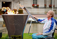 IHP_SimonRichardson_Cauldron-5011 (IHphoto) Tags: lamp sport wales cycling cyclist cityhall flame cauldron paralympics london2012 cardifff simonrichardsonmbe