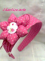 Tiara infantil (Nina.artes) Tags: tiara flor fuxico arcos tecido poá