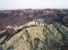 Layers (The Rune Project) Tags: red usa mountain 120 mamiya film colors yellow analog 645 colorado kodak erosion medium format layers 6x45 portra 160