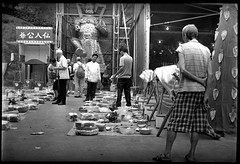 Preparation of a feast for spirits (Brian C~~) Tags: leica bw white black self 50mm noiretblanc kodak nickel rodinal development elmar 20c 1100 plusx 1c f35 125px standdevelopment iso125 modelc r09 11oclock leicai 50minutes aristapremium100 kodakplusx192012020