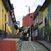Vicoli del quartiere vecchio della Candelaria in Bogotá