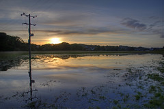Flooded field (Mark McKie) Tags: sunset water day flood telegraphpole galloway floodwater machars newtonstewart wigtownshire minnigaff pwpartlycloudy