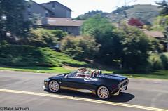 Spyker C8 (blkmceuen) Tags: usa black golf us monterey shiny convertible lodge course carmel panning quail 2012 roadster spyker c8 carweek