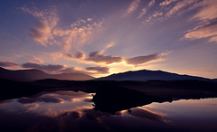 Dawn's Reflection (Kevin OBrian) Tags: park uk light lake mountains wales sunrise landscape island landscapes nationalpark nikon scenery north national snowdon welsh snowdonia boathouse peninsula gwynedd eryri bigpicture llyn northwales nantlle mountsnowdon llyndywarchen kevinobrian