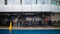 Bar tables (jenschuetz) Tags: travel vacation holiday swimming southeastasia relaxing malaysia kualalumpur kl overseas skybar tradershotel openairpool 33rdfloor gettinouttadodge