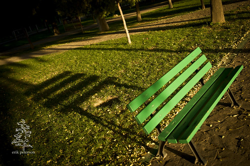 Little bench, big shadow