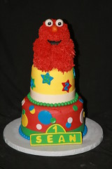 "Elmo cake with smash • <a style=""font-size:0.8em;"" href=""http://www.flickr.com/photos/60584691@N02/7977115959/"" target=""_blank"">View on Flickr</a>"